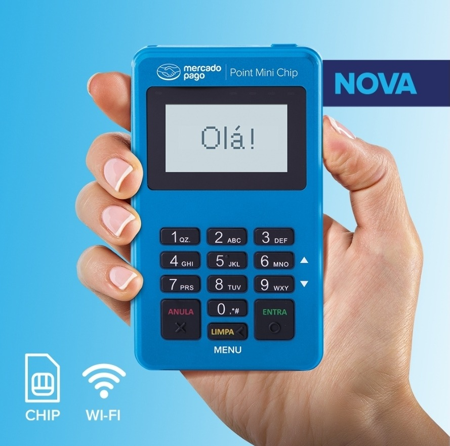 Nova Máquina de Cartão Mercado Pago Point MINI Chip
