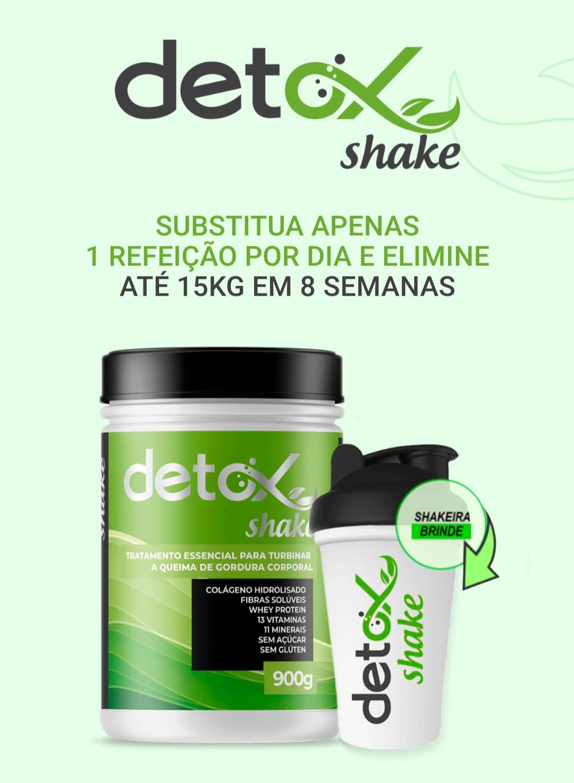 3 potes Detox Shake - composição 100% natural