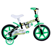 Bicicleta Aro 12 Houston Mini Boy Preta