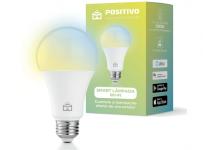Smart Lâmpada Wi-Fi, Positivo Casa Inteligente, LED 10W, Branco Frio e Quente, Compatível com Alexa Smart Lâmpada Wi-Fi