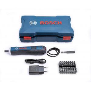 Parafusadeira a Bateria Bosch Go 3 - 6V BIVOLT com 32 Bits - 1 Cabo USB em Maleta