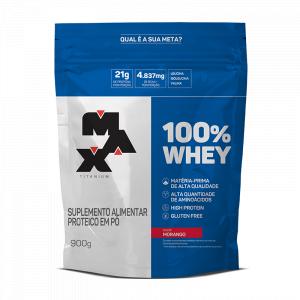 100% Whey Protein (Refil-900g) Max Titanium
