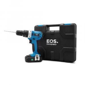 Parafusadeira/Furadeira De Impacto Profissional Eos MaxPro A Bateria 21V Com Maleta + 2 Baterias + Carregador Extra Rapido + 13 Acessorios