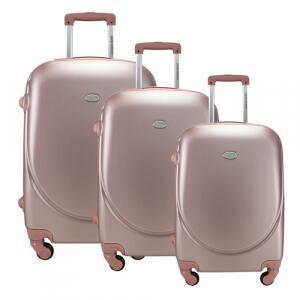 Conjunto Malas De Viagem Jacki Design AHZ19861 Select 3 Peças Rosê Gold