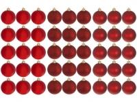 [2 CORES] Kit Bola de Natal Vermelha NATAL073 Casambiente – 6cm 45 Unidades
