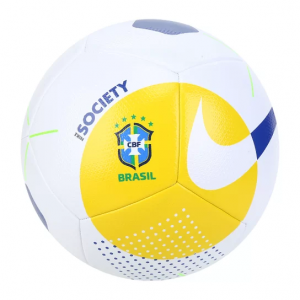Bola de Futebol Society Nike Brasil CBF - Amarelo e Azul