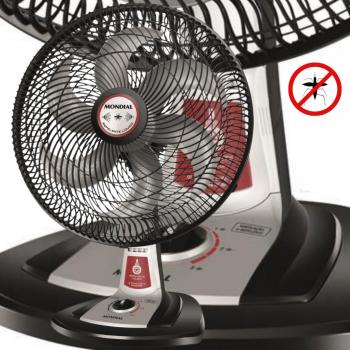 Ventilador Turbo Tech Repelente Pastilha -85W de Potência, 6 Pás, Hélice de 40CM, Eficaz Contra Mosquitos, Mesa, Motor Silencioso – Mondial 110v