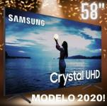 "Smart TV Samsung 58""4K Crystal UHD UN58TU7020GXZD Wi-Fi Bluetooth HDR10+ 2 HDMI 1 USB"