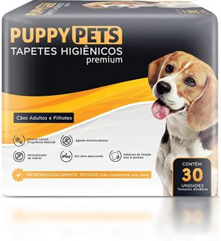 Tapetes Higiênicos Premium Puppypets 60×80 30 UNIDADES