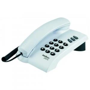 Telefone Com Fio Intelbras Pleno Cinza Ártico- 2 Tipos de Toques