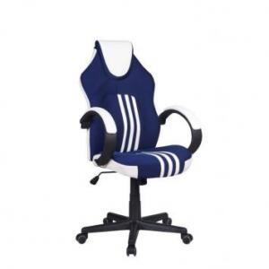 Cadeira Gamer Pelegrin PEL-3005 Azul Branca e Preta