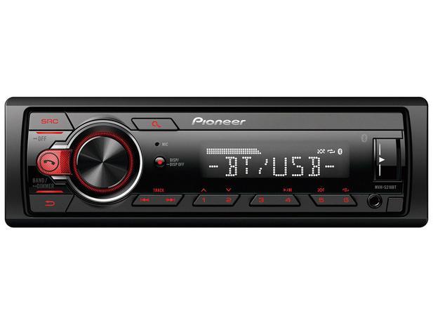 Som Automotivo Pioneer MP3 Player Rádio AM/FM – Bluetooth USB Auxiliar MVH-S218BT