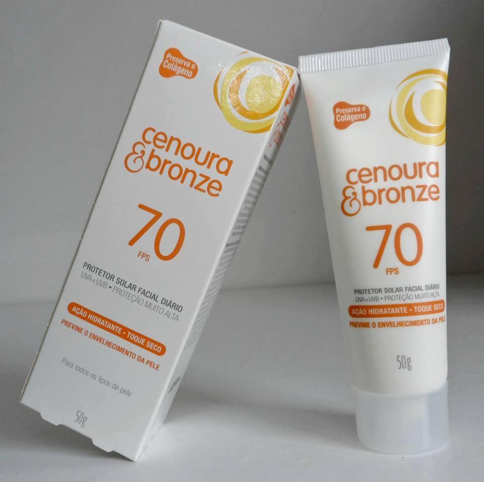Protetor Solar Facial Cenoura e bronze 50g FPS 30/50/70