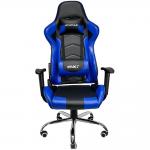 Cadeira Gamer MX7 Giratoria Preto e Azul Mymax