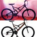 Bicicleta Colli Bike GPS Pro Aro 26 21 Marchas – Dupla Suspensão Freio V-brake Vermelho
