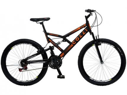 Bicicleta Colli Bike GPS Pro Aro 26 21 Marchas – Dupla Suspensão Freio V-brake