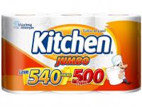 Papel Toalha Folha Dupla Kitchen Jumbo – 3 Unidades – Magazine