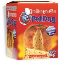 Panettone Pet Dog para Cães Sabor Carne - 80g