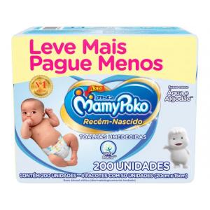Toalha Umedecida MamyPoko Recém-Nascido - 200 Unidades