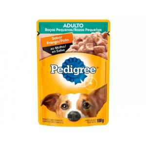 6 Unidades Ração Úmida para Cachorro Adulto Sachê - Pedigree Frango ao Molho 100g