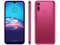 "Smartphone Motorola Moto E6S 32GB Pink 4G – Octa-Core 2GB RAM 6,1"" Câm. Dupla + Selfie 5MP – Magazine"