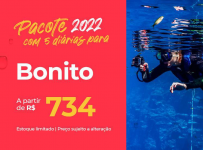 Pacote Bonito – 2022 Aéreo + Hospedagem com Café da Manhã