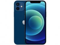 "iPhone 12 Apple 256GB Azul  Tela 6,1"" – Câm. Dupla 12MP iOS"