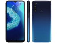 "[2 Cores] Smartphone Motorola Moto G8 Power Lite 64GB Azul – 4G Octa-Core 4GB RAM 6,5"" Câm. Tripla + Selfie 8MP – Magazine"