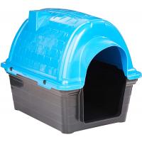 Casinha Plástica Furacão Pet Iglu N.1.0 Azul Furacão Pet para Cães