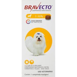 Bravecto Cães 2 até 4,5kg - 112,5mg