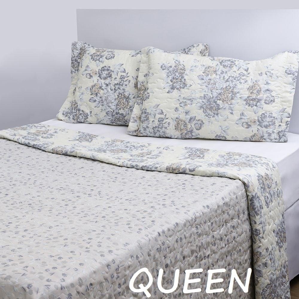 Colcha Queen Boutis Vanilla Com 2 Porta-travesseiros – Casa & Conforto