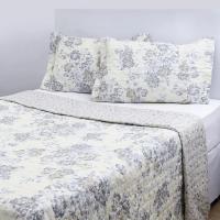 Colcha Queen Boutis Vanilla Com 2 Porta-travesseiros - Casa & Conforto