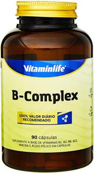 B Complex Vitaminas Complexo B – 90 Cápsulas, VitaminLife