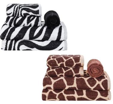 Jogo de Toalhas Banhão 5 Peças Fio Tinto África Girafa OU Zebra – Basic+