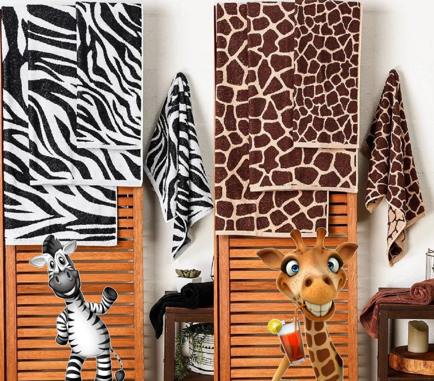 Jogo de Toalhas Banhão 5 Peças Fio Tinto África – Basic+