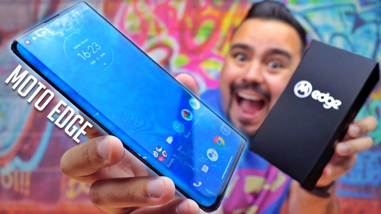 "Smartphone Motorola Edge 128GB Solar Black 6GB RAM – Tela 6,7"" Câm. Quádrupla + Selfie 25MP"