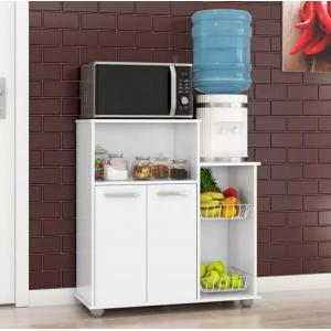 Fruteira Armário Balcão 2 Portas Cozinha Multiuso Sollys Branco