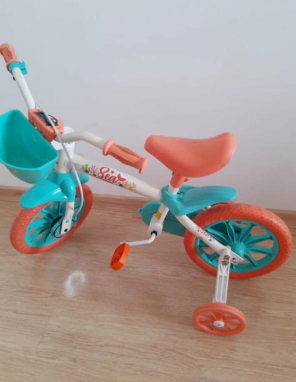 Bicicleta Sea Feminina Aro 12 Nathor Multicor
