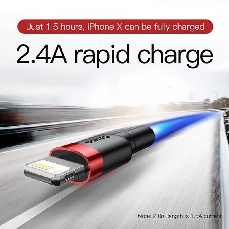 6 UNIDADES Baseus USB Lightning iPhone Cable 1m