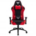 Cadeira Gamer Raven X-20 c/estrutura de metal, braço 2D, encosto reclinável Preta/Vermelha FlexInter