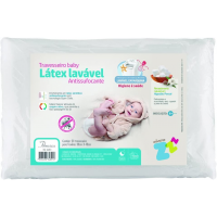 Travesseiro Antissufocante Lavável - Capa Extra - Baby - Látex - Branco - Fibrasca