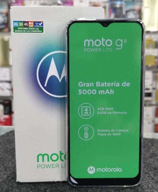 Smartphone Motorola Moto G8 Power Lite 64GB 4GB RAM Câmera Tripla 16MP Tela 6.5″ – Aqua