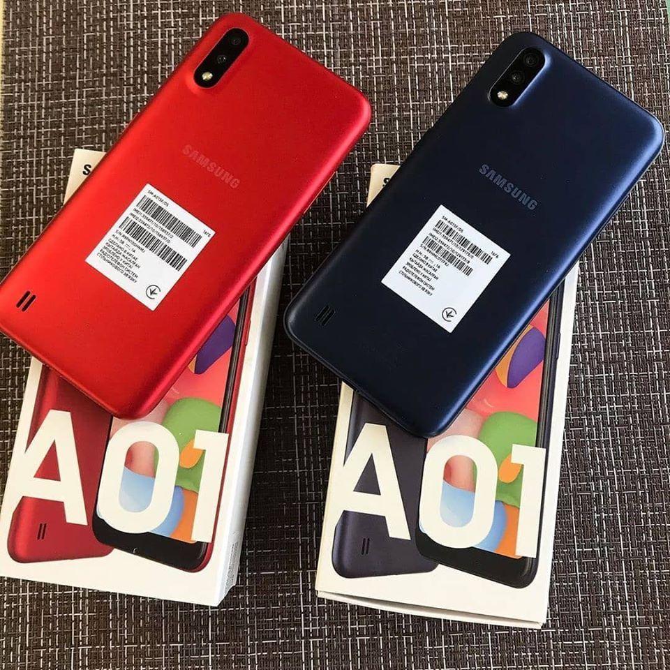 Smartphone Samsung Galaxy A01, 4G Android 10 16GB Octa-Core Câmera 13MP Tela 5.7″