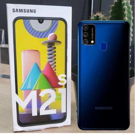 """Smartphone Samsung Galaxy M21s 64GB, 4GB RAM, Tela Infinita de 6.4"""", Câmera Traseira Tripla, Android 10 e Processador Octa-Core"""