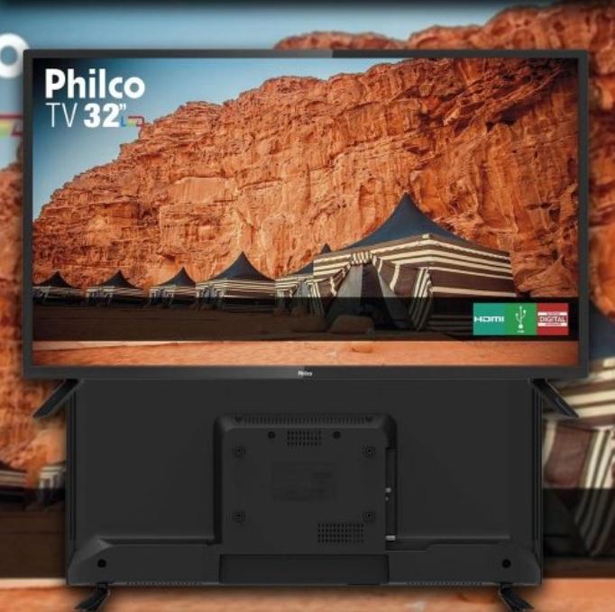 TV LED 32″ Philco Ptv32f10d HD com Receptor de Sinal de Tv Digital Integrado 2 HDMI 1 USB