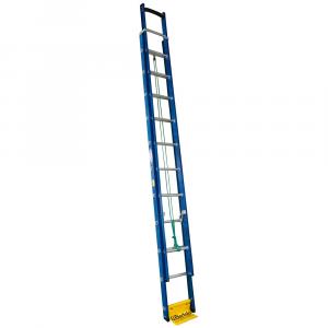 Escada Extensível Premium 19 Degraus Tipo D em Alumínio e Fibra Vazada 3,50 x 5,90 Metros - WBERTOLO-EAFP19