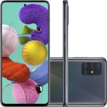 Smartphone Samsung Galaxy A51 128GB Tela 6,5″ Câmera Quádrupla 48MP 12MP 5MP 5MP Frontal 32MP Preto