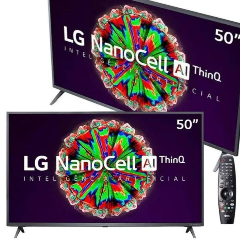 Smart TV NanoCell 4K LG LED 50″ com ThinQAI, Google Assistente e Wi-Fi – 50NANO79SND