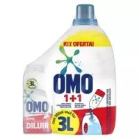 Kit Sabão para Diluir Omo 500ml com Garrafa