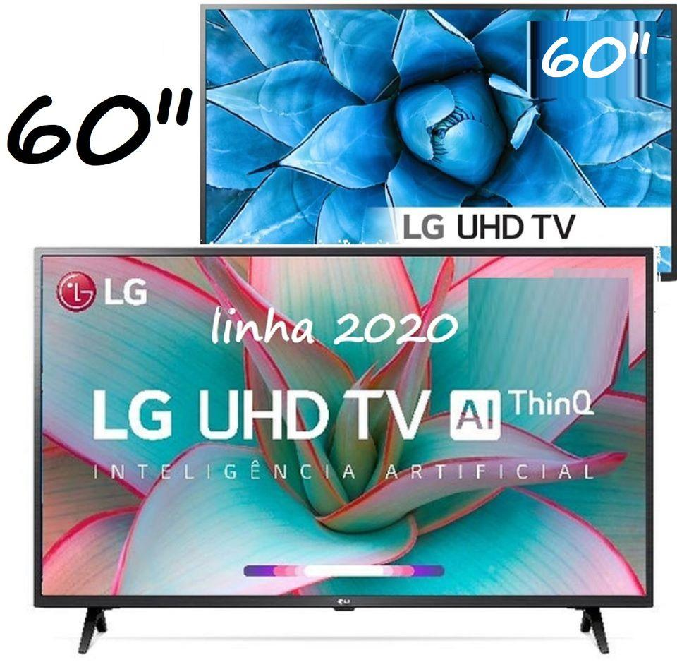 "Smart TV 4K LED 60"" LG 60UN7310PSA Wi-Fi Bluetooth – HDR Inteligência Artificial 3 HDMI 2 USB"